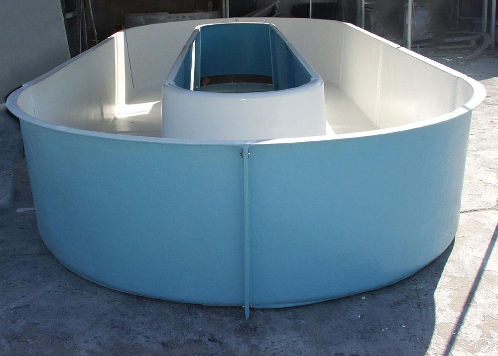 Aquaculture tanks for fish filters lids pipes floors for Plastic fish tank
