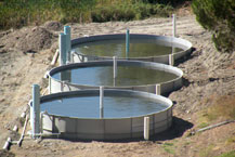 outdoor water treatment tanks