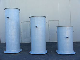 Wet wells and lift station fiberglass tanks for Fiberglass well house